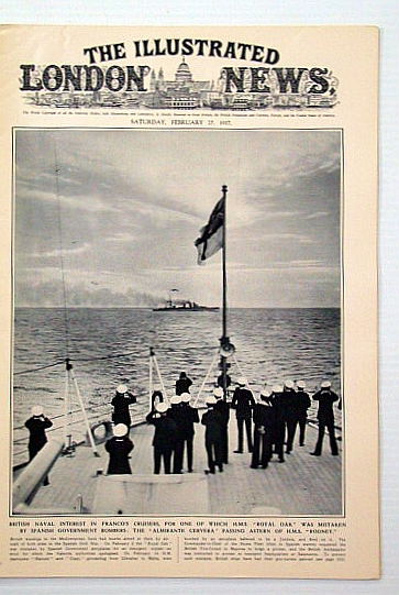 "Image for The Illustrated London News, February 27, 1937: The Fall of Malaga / Combined Manoeuvre Prove Singapore ""Invulnerable"""