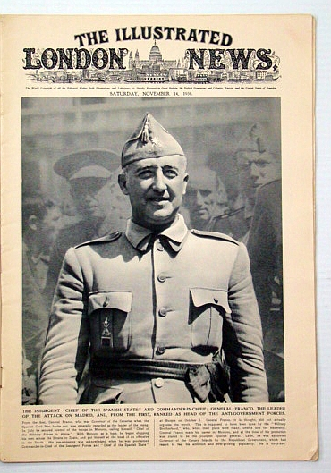 Image for The Illustrated London News, November (Nov.)14, 1936: Gen. Franco Cover Photo Portrait