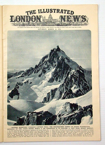 Image for The Illustrated London News, March (Mar.) 10, 1934: Canada's Mount Waddington