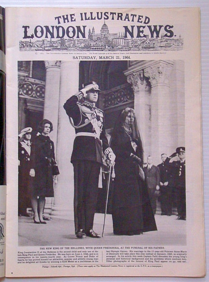 Image for The Illustrated London News, March (Mar.) 21, 1964 - Funeral of King Paul of Greece / 60 Years of the Anglo-French Accord