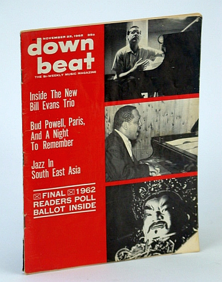 Image for Down Beat - The Bi-Weekly Music Magazine, November (Nov.) 22, 1962, Vol. 29, No. 29 - The New Bill Evans Trio / Bud Powell / Jimmy Witherspoon
