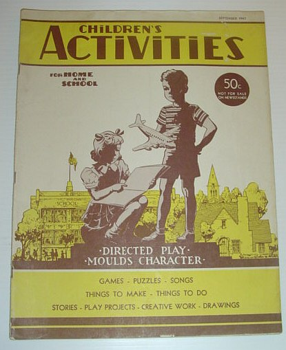 Image for Children's Activities for Home and School, September 1947