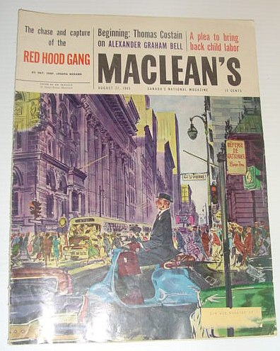 Image for Maclean's Magazine, August 27, 1960 *HOW I CAPTURED QUEBEC'S RED HOOD GANG*
