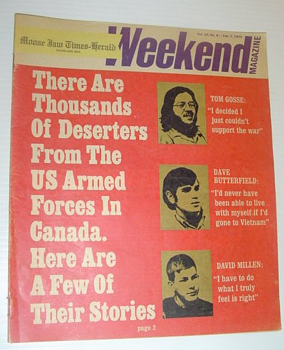 Image for The Moose Jaw Times-Herald Weekend Magazine, February 7, 1970 *STORIES OF AMERICAN DRAFT DODGERS IN CANADA*