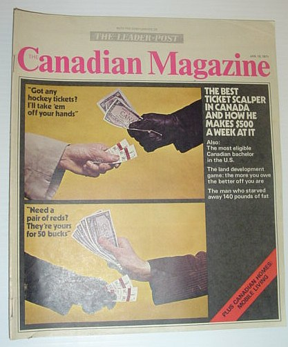 Image for The Canadian Magazine, 16 January 1971 *MORRIS COHEN - THE BEST TICKET SCALPER IN CANADA*