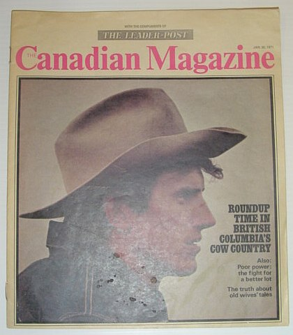Image for The Canadian Magazine, 30 January 1971 *ROUNDUP TIME IN BC'S CATTLE COUNTRY*