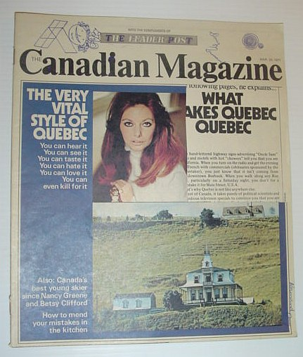 Image for The Canadian Magazine, 20 Mar 1971  *WHAT MAKES QUEBEC QUEBEC?*