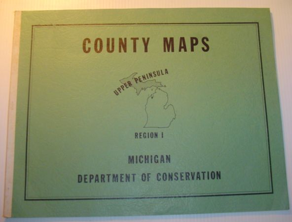 Image for (Michigan) County Maps, Upper Peninsula, Region 1 (One)