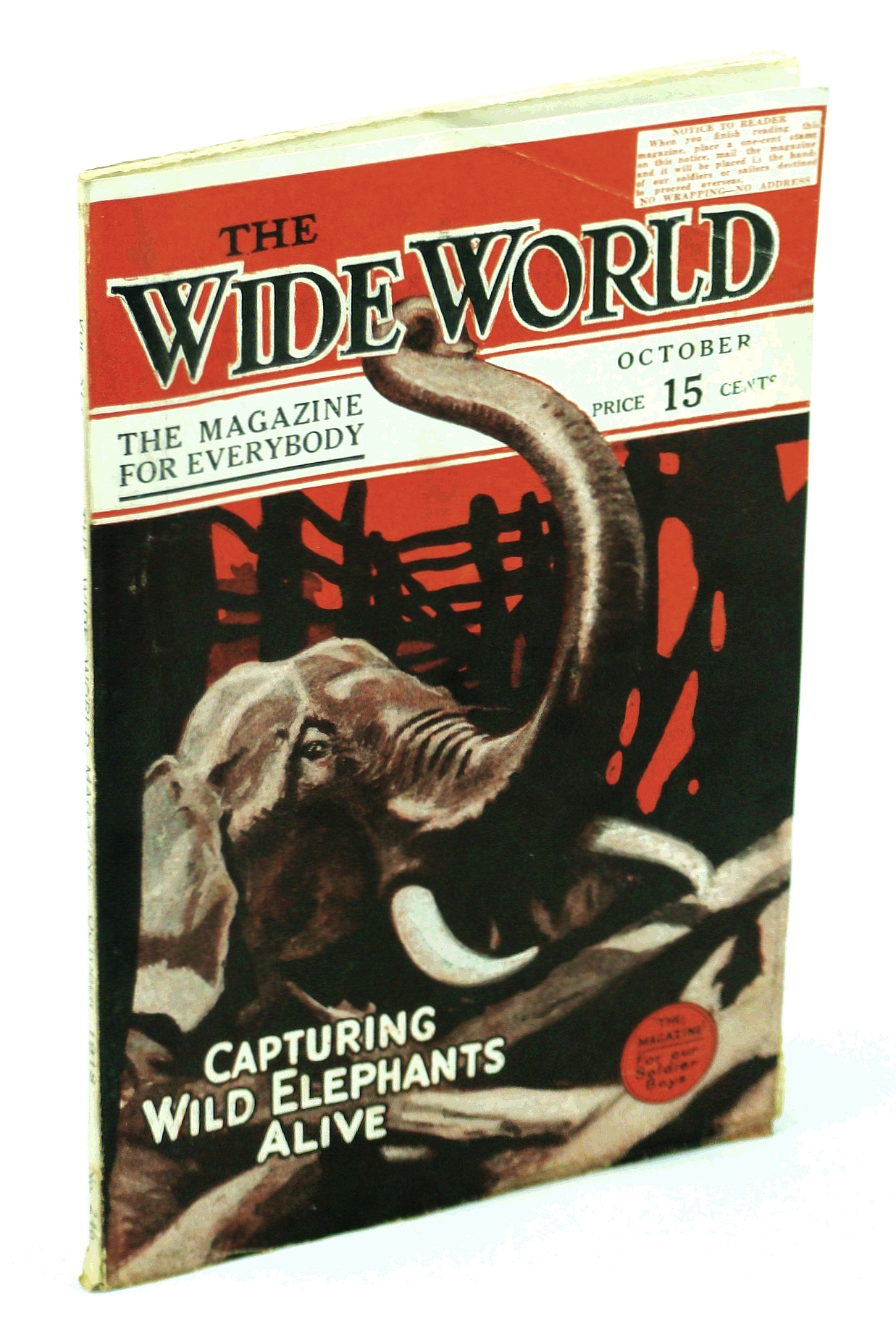 Image for The Wide World Magazine, October 1918 *Capturing Wild Elephants Alive!*