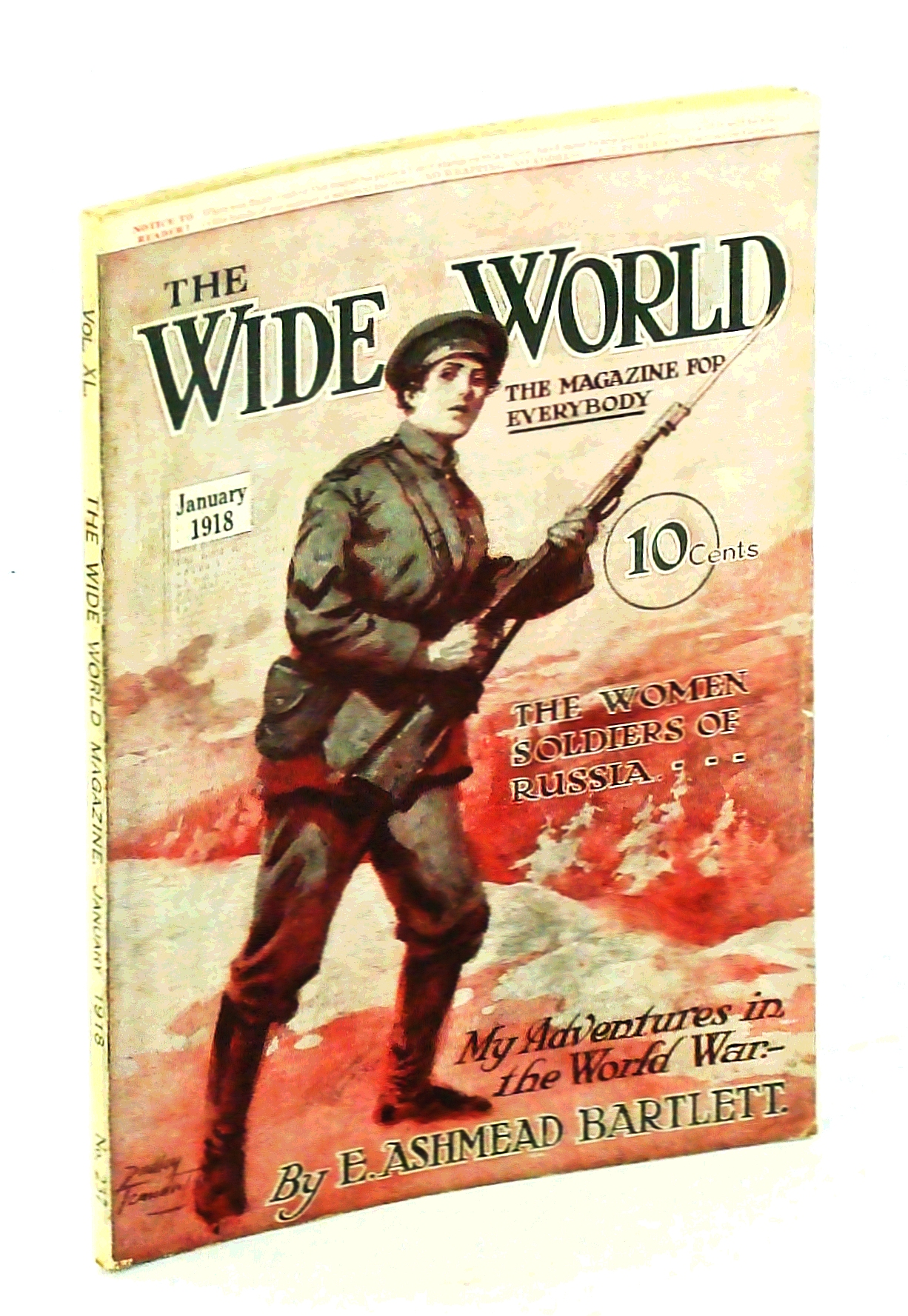 Image for The Wide World Magazine - The Magazine for Everybody, January [Jan.] 1918, Vol. 40, No. 237: The Woman Soldiers of Russia