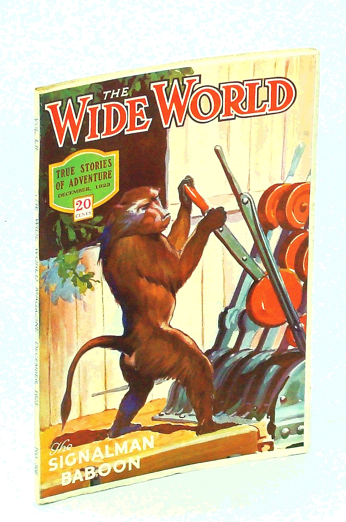 Image for The Wide World Magazine - True Stories of Adventure, December [Dec.] 1923, Vol. LII, No. 308: Exploring in Central Brazil / The Signalman Baboon