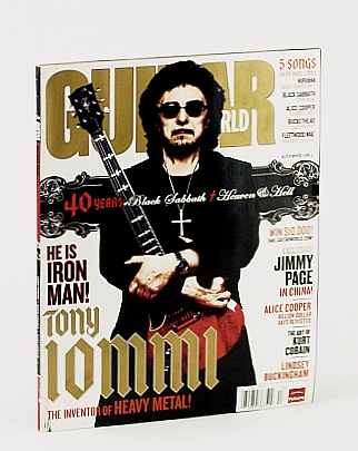 Image for TONY IOMMI BLACK SABBATH GUITAR WORLD HOLIDAY 2008 5 SONGS WITH BASS LINES NIRVANA ALICE COOPER AND MORE!