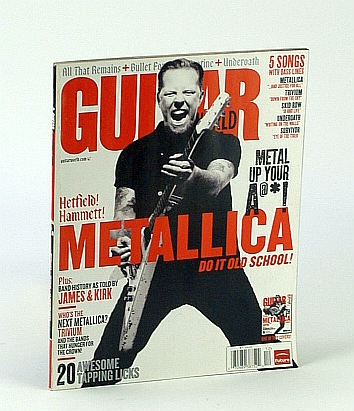 Image for KIRK HAMMETT METALLICA GUITAR WORLD DECEMBER 2008 5 SONGS WITH BASS LINES TRIVIUM UNDEROATH SKID ROW!