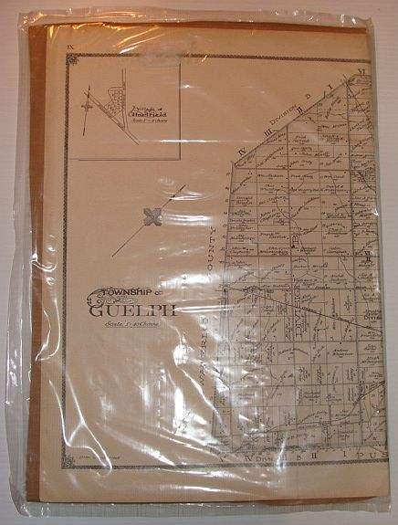 Image for Map of Township of Guelph, Ontario