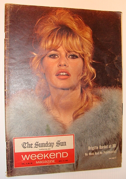 Image for Weekend Magazine, November 14, 1964, Vol. 14, No. 46 *Brigitte Bardot Cover Photo*