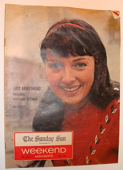 Image for Weekend Magazine, 9 January 1965: Judy Armstrong Cover Photo