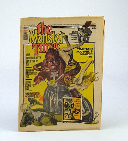 Image for The Monster Times - The World's First Newspaper of Horror, Sci-Fi and Fantasy, Volume 1, No. 25 - August (Aug.) 1973  - The Horror of the Fly!