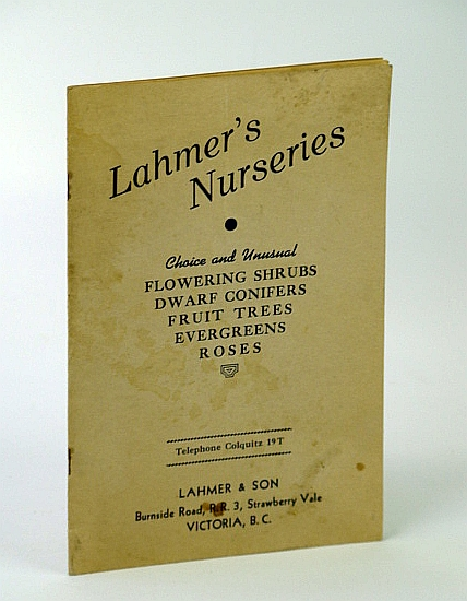 Image for Lahmer's Nurseries - Vintage Plant Catalogue