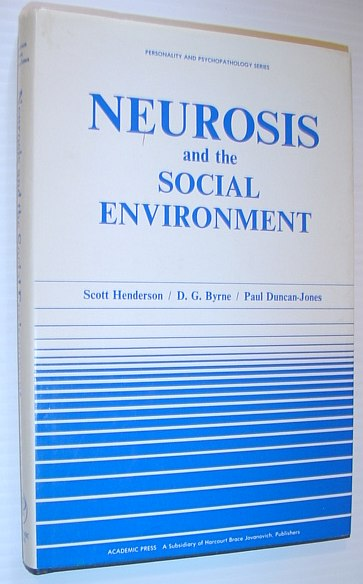 Image for Neurosis and the Social Environment (PERSONALITY, PSYCHOPATHOLOGY, AND PSYCHOTHERAPY (ACADEMIC PR))
