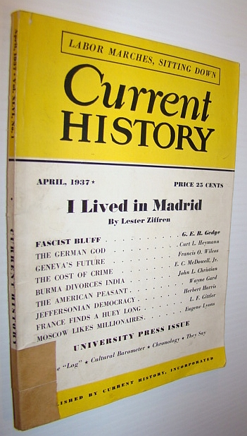 Image for Current History Magazine, April 1937