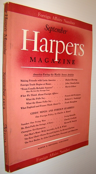 Image for Harper's Magazine, September 1939 - Foreign Affairs Number