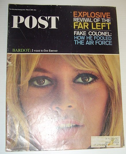 Image for The Saturday Evening Post, May 8, 1965 *BRIGITTE BARDOT COVER PHOTO*