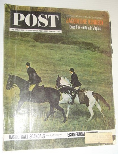 Image for The Saturday Evening Post, February 23, 1963  *JACQUELINE KENNEDY FOX HUNTING IN VIRGINIA*