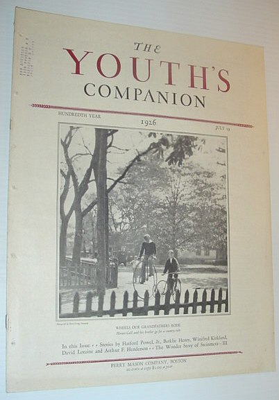 Image for The Youth's Companion, July 29, 1926 *PHOTO OF VERY OLD BICYCLE ON FRONT COVER*