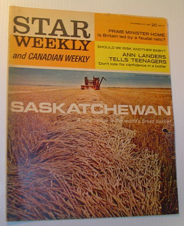Image for Star Weekly and Canadian Weekly (Magazine), 23 November 1963 *SASKATCHEWAN FEATURE*
