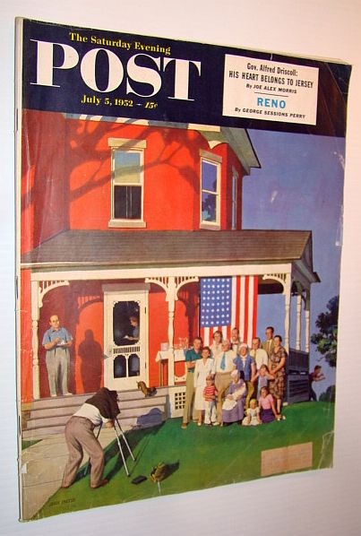Image for The Saturday Evening Post, July 5, 1952 - Reno / Gov. Alfred Driscoll