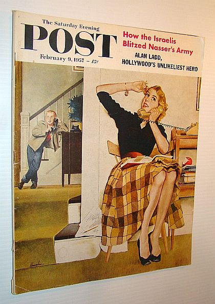 Image for The Saturday Evening Post, February 9, 1957 - How the Israelis Blitzed Nasser's Army / Jamestown Restoration / Alan Ladd / Kitimat, British Columbia
