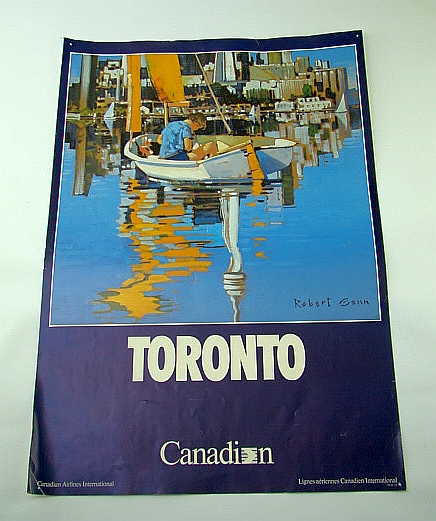 Image for Canadian Airlines International (CAI) Advertising Poster - Toronto (ADV105 7/87) - With Colour Illustration By Robet Genn