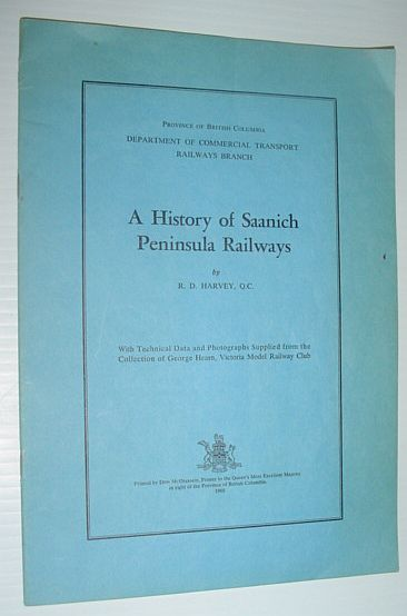 Image for A History of Saanich Peninsula Railways