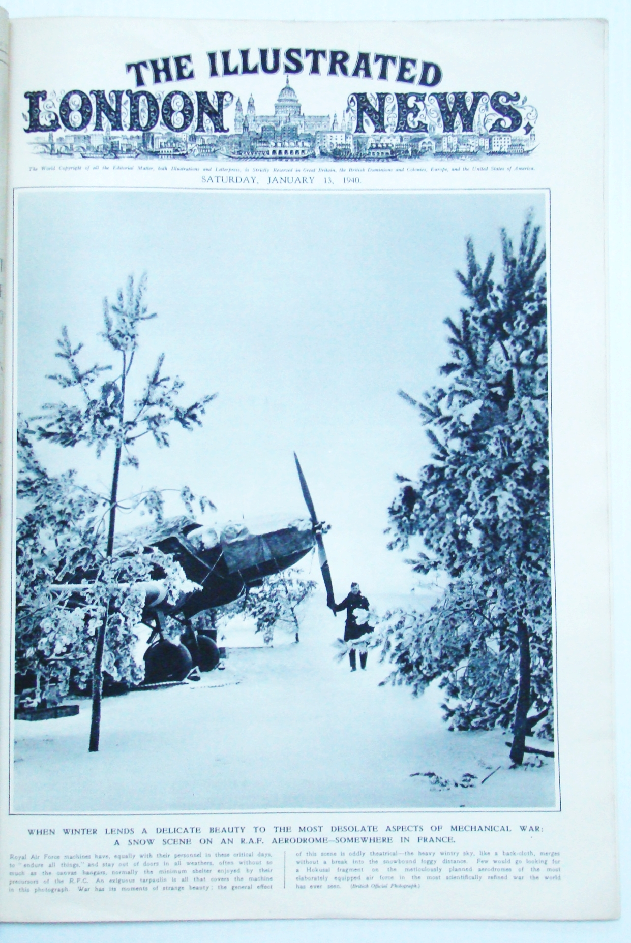 Image for The Illustrated London News, January (Jan) 13, 1940 - British Maginot Section Under Fire / The Grim War in Finland