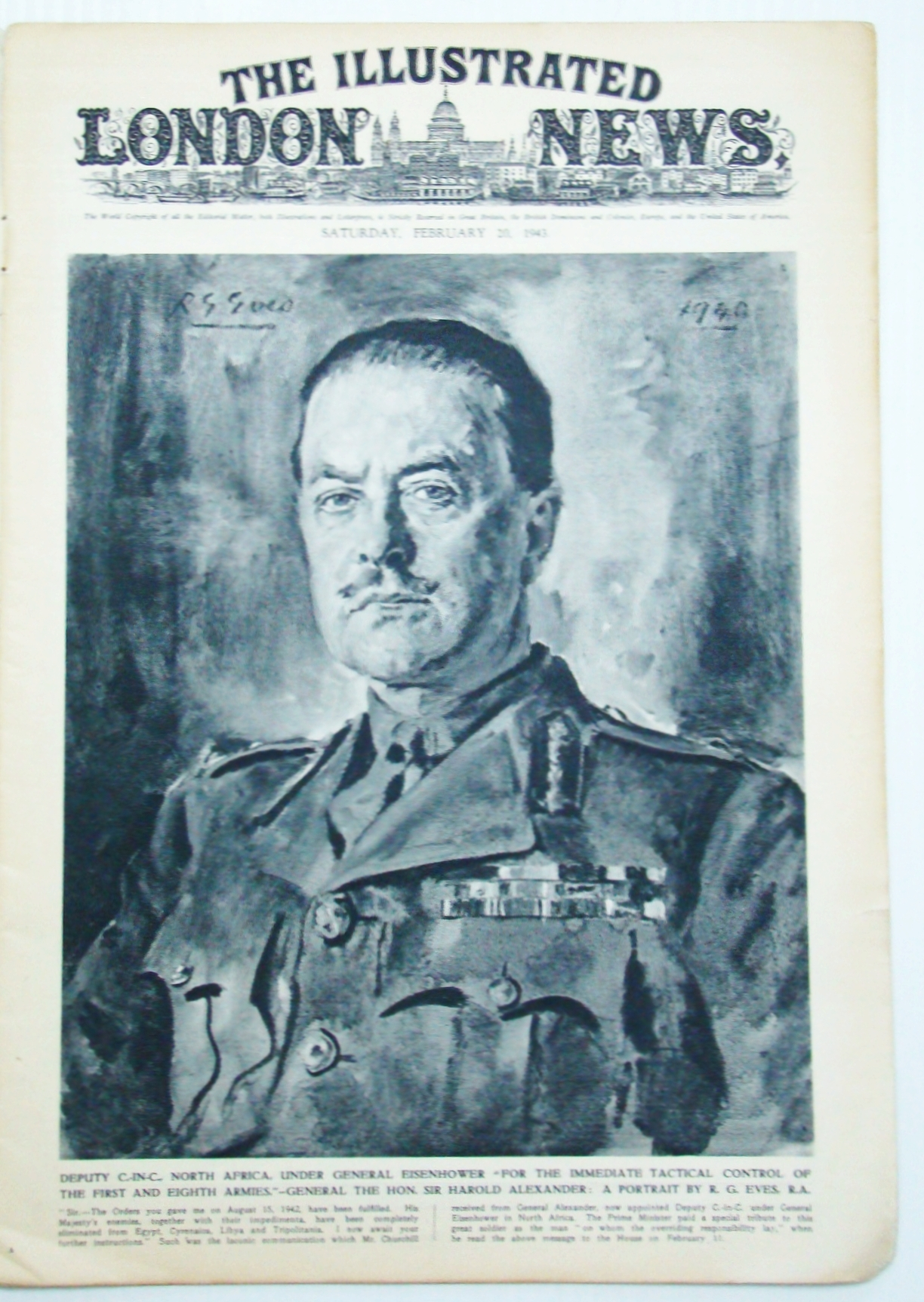 Image for The Illustrated London News (ILN), February (Feb.) 20, 1943 -  Churchill's North African Commanders / Churchill in Tripoli