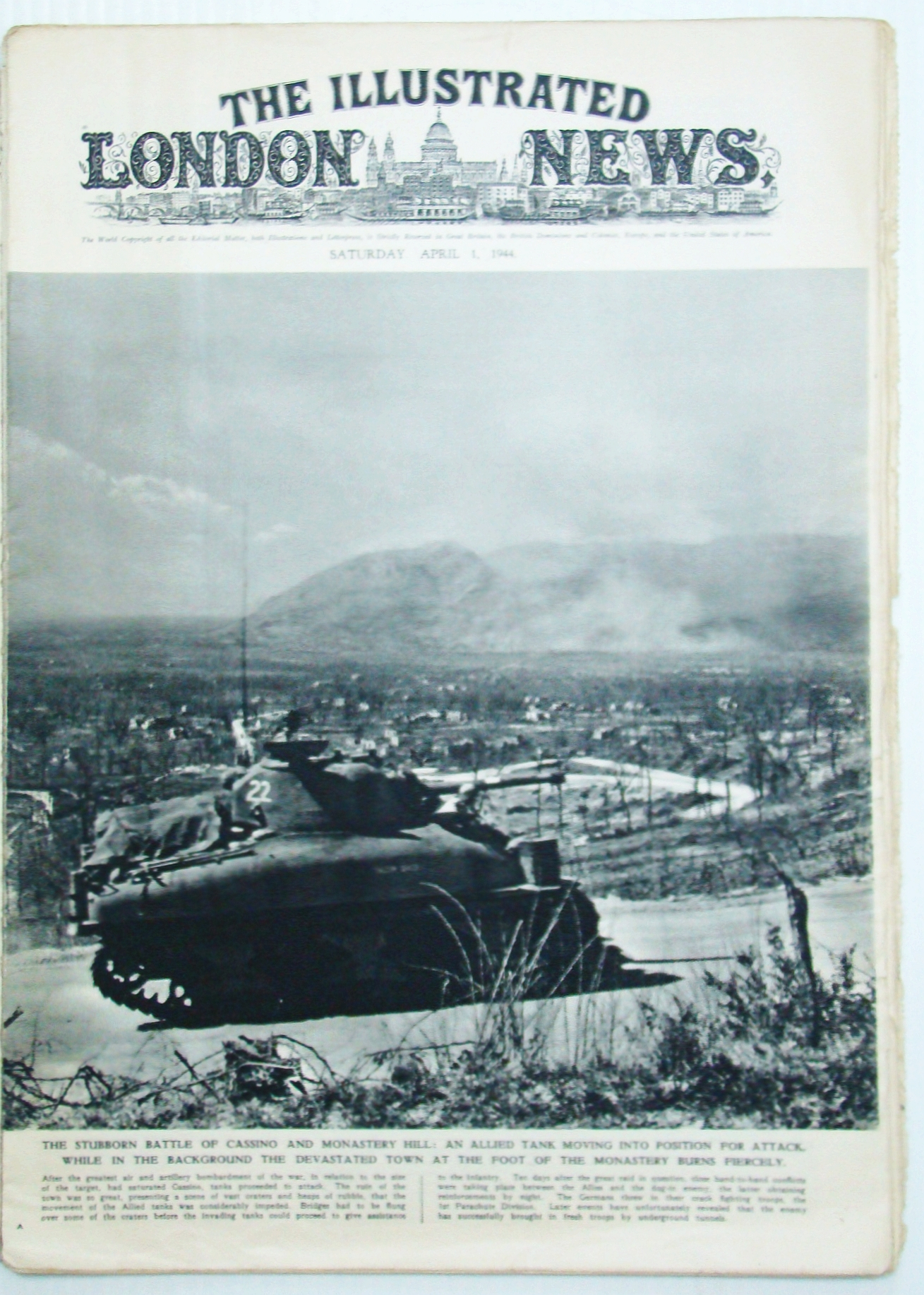 Image for The Illustrated London News (ILN), April (Apr.) 1, 1944 - The Battle of Cassino / The Battle of Berlin