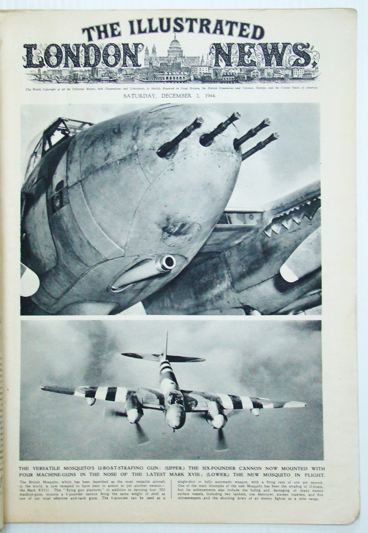 Image for The Illustrated London News (ILN), December (Dec.) 2, 1944 - The Fall of Geilenkirchen / Liberation of Metz