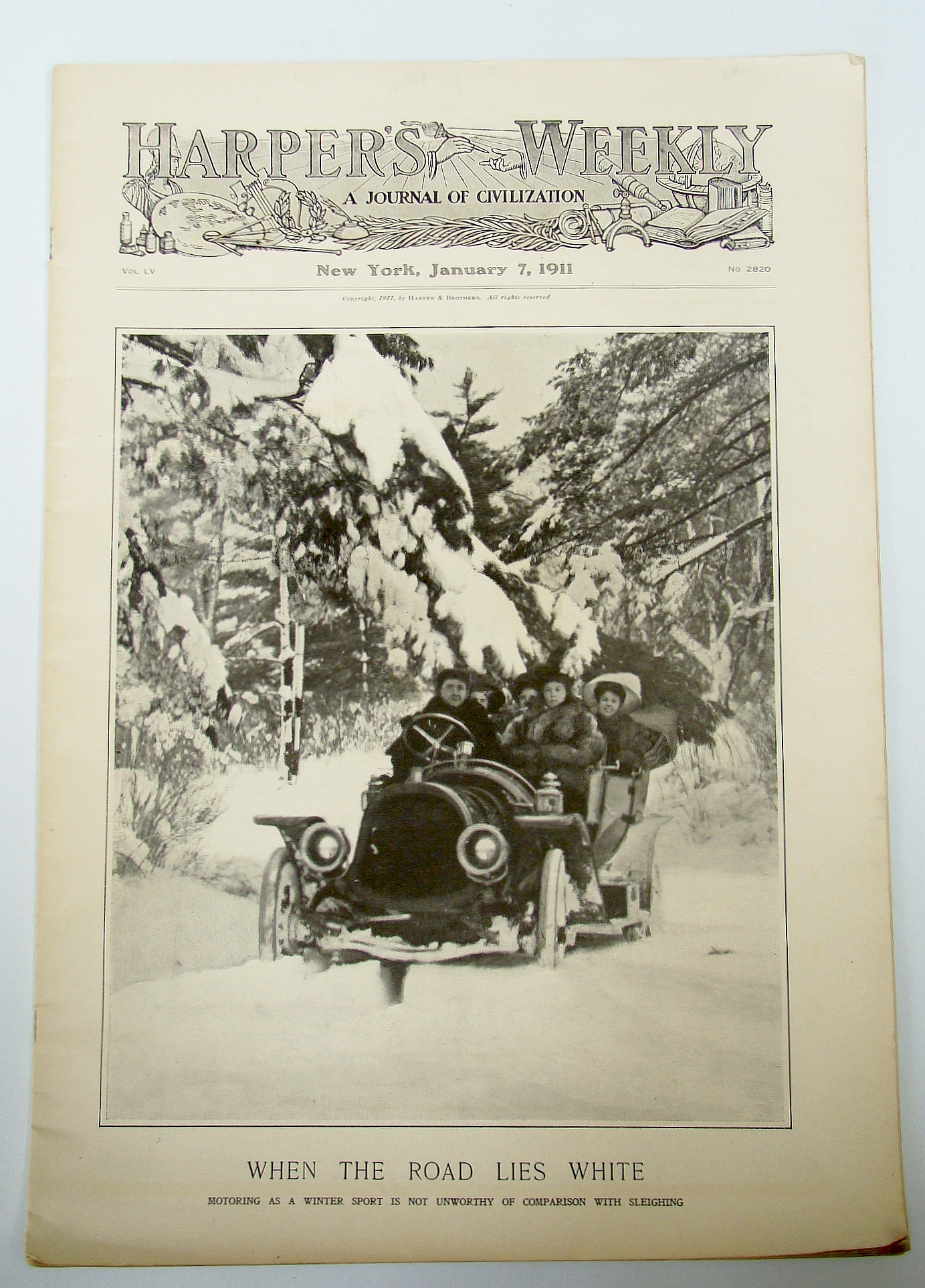 Image for Harper's Weekly (Magazine), January (Jan.) 7, 1911, Vol. LV, No. 2820 - Motor Car Issue