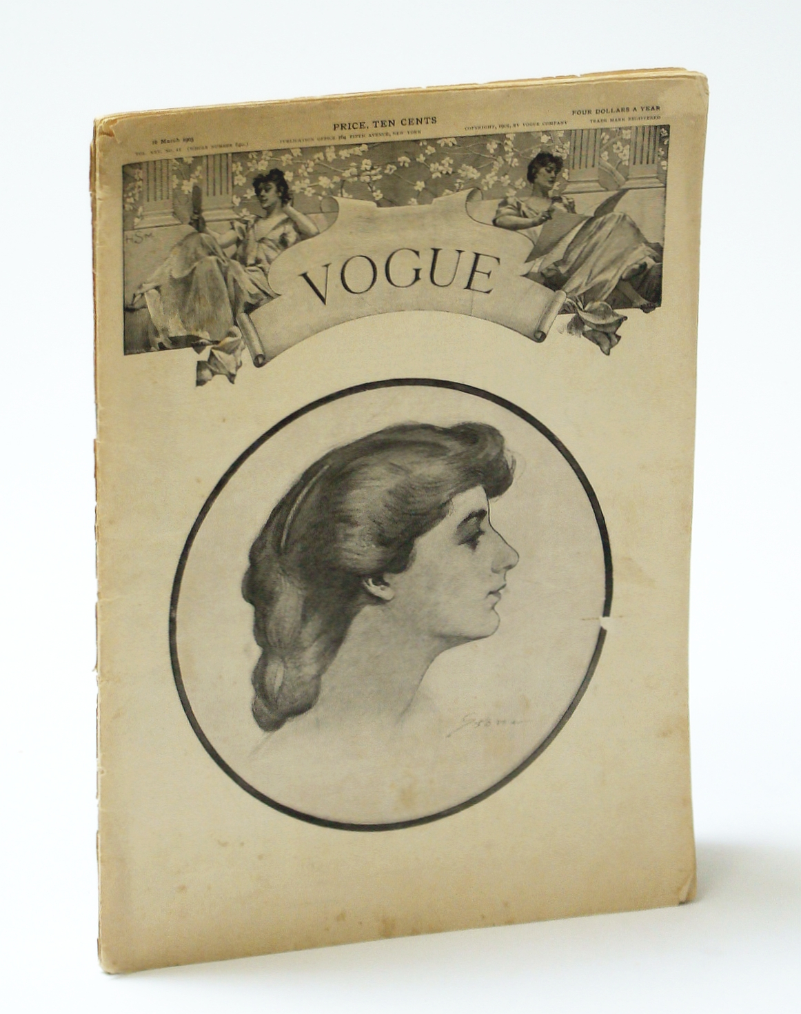Image for Vogue (Magazine), 16 March (Mar.) 1905, Vol. XXV, No. II (Whole No. 640) : Great Peck & Peck Hosiery Ad