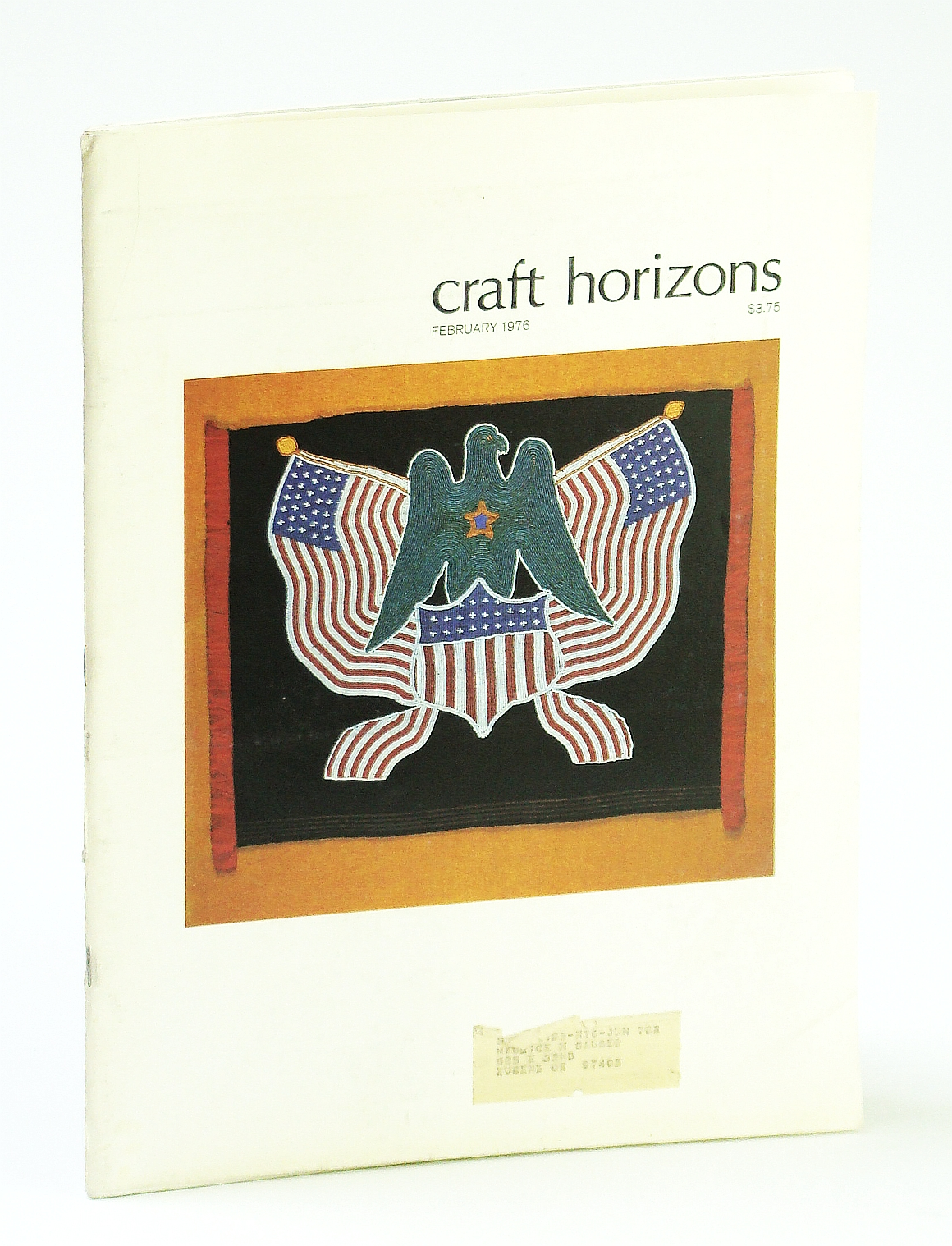 Image for Craft Horizons (Magazine) of the American Craft Council, February (Feb.) 1976 - Paper Constructions of Neda Al-Hilali / Robert Strini