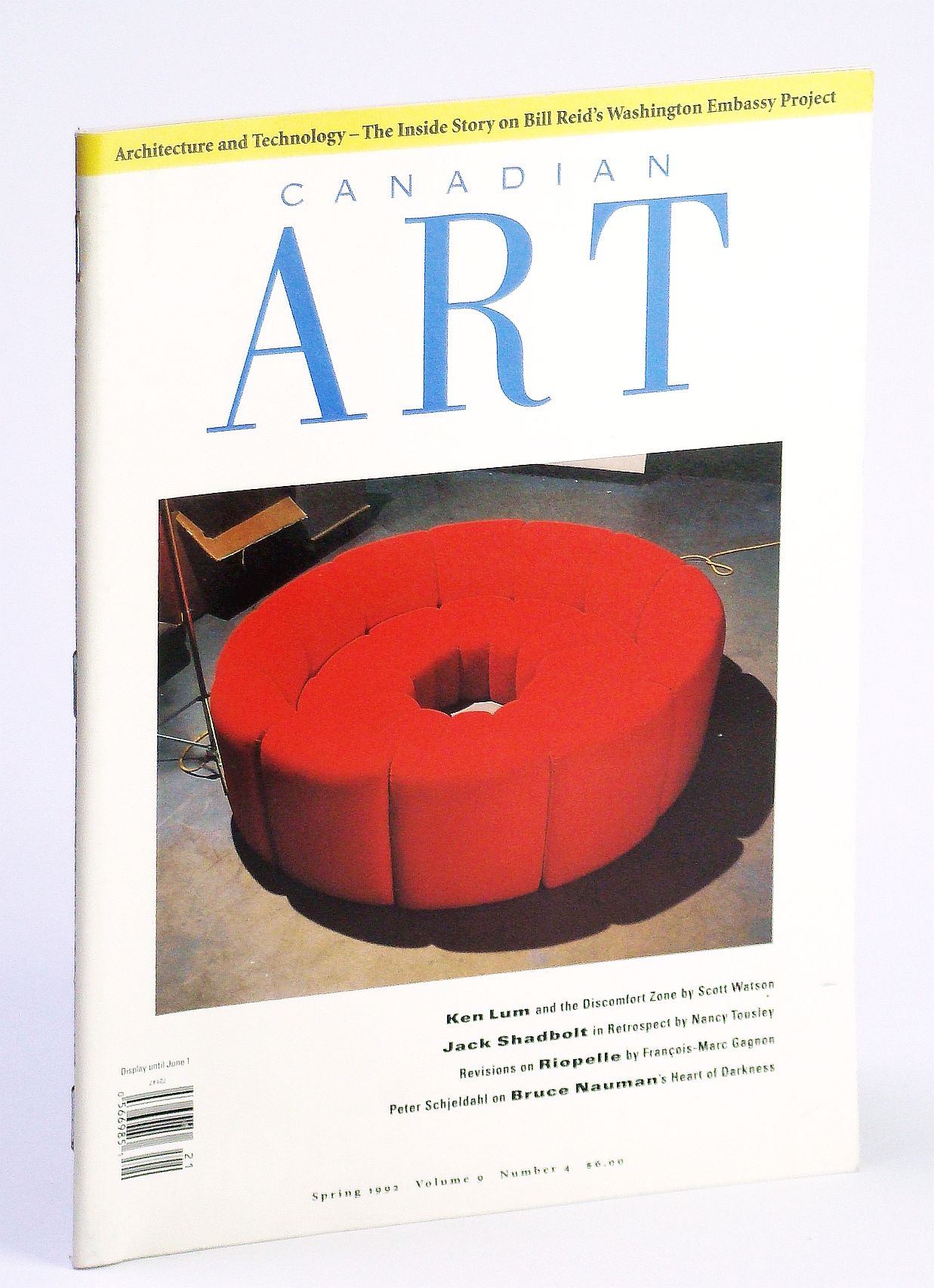 Image for Canadian Art Magazine, Spring 1992, Volume 9, Number 4: The Inside Story on Bill Reid's Washington Embassy Project