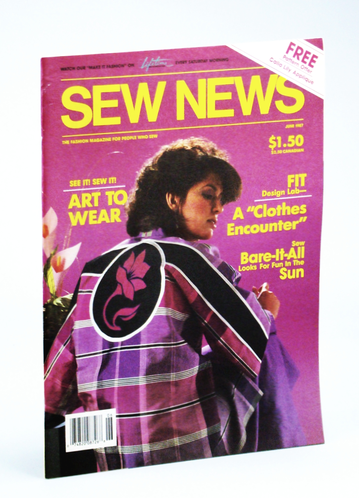 Image for Sew News Magazine - The Fashion Magazine for People Who Sew, Number 57, June 1987 - Art to Wear / Jessica McClintock
