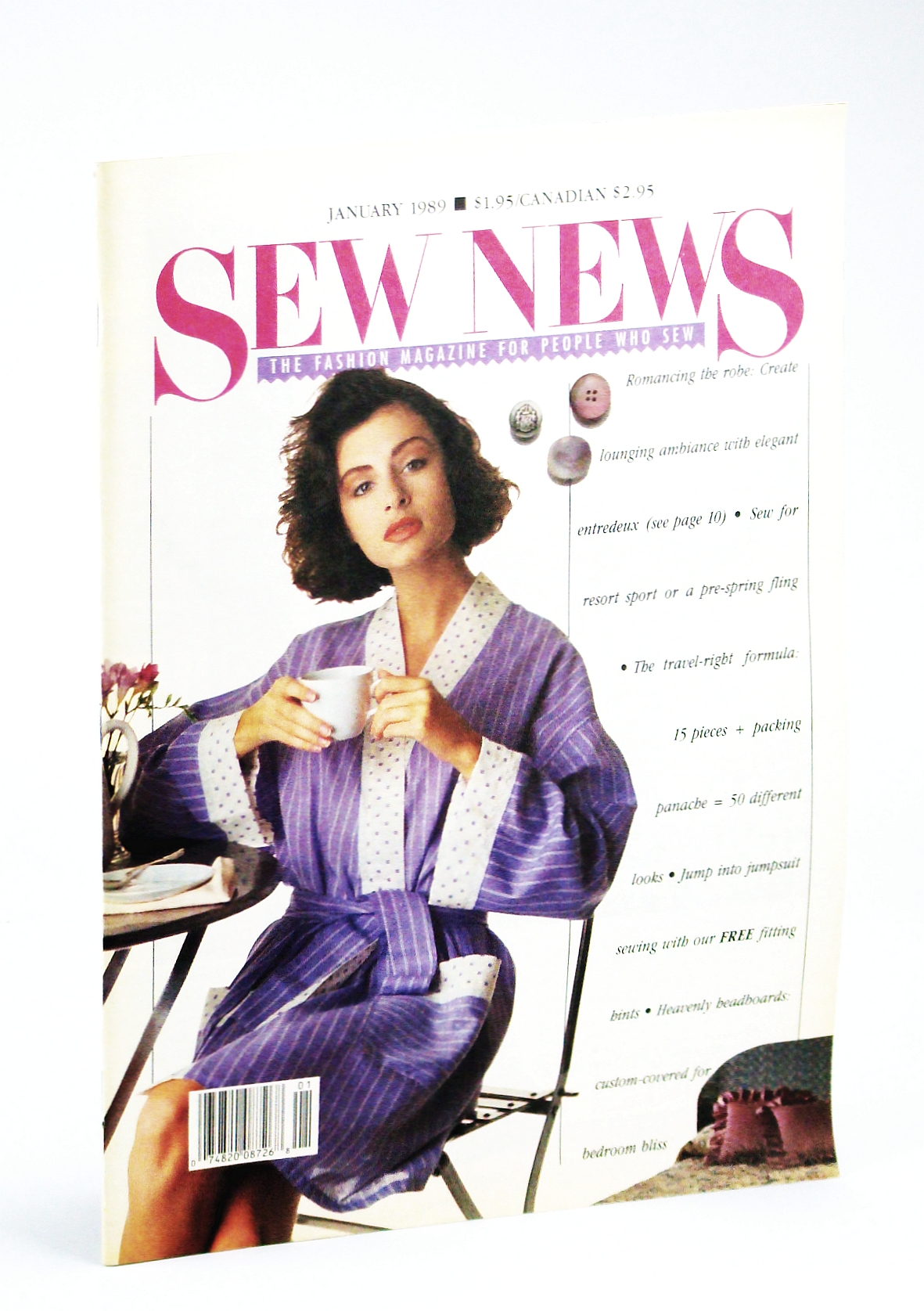 Image for Sew News: the Fashion Magazine for People Who Sew-January 1989 (No. 76)