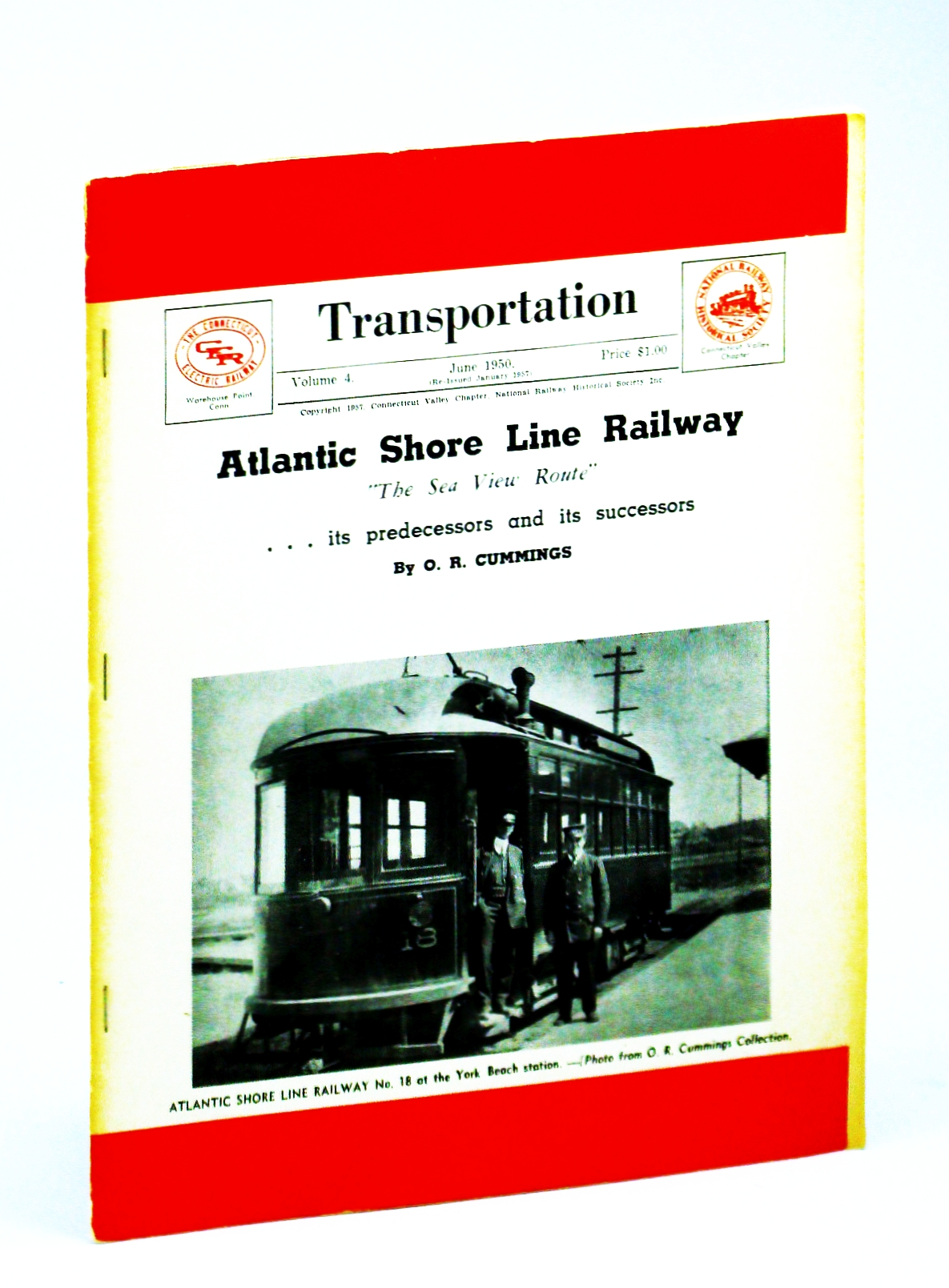 "Image for Transportaion Volume 4 June 1950 Atlantic Shore Line Railway "" The Sea View Route"""