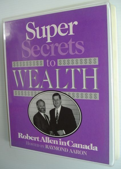 Image for Super Secrets To Wealth - Robert Allen in Canada: 8 Cassette Tape Set in Case