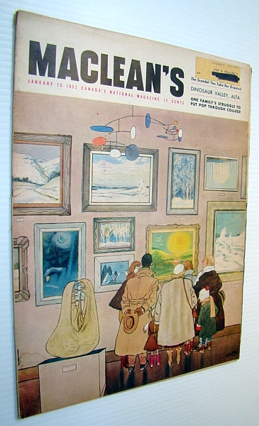 Image for Maclean's - Canada's National Magazine, 15 January 1952 - Movie Censorship