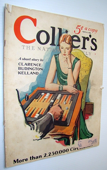 Image for Collier's Magazine - The National Weekly: April 11, 1931 - Classy Backgammon Cover