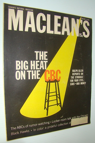 "Image for Maclean's - Canada's National Magazine, February 9, 1963 - The ""Hairy"" Chicago Blackhawks"