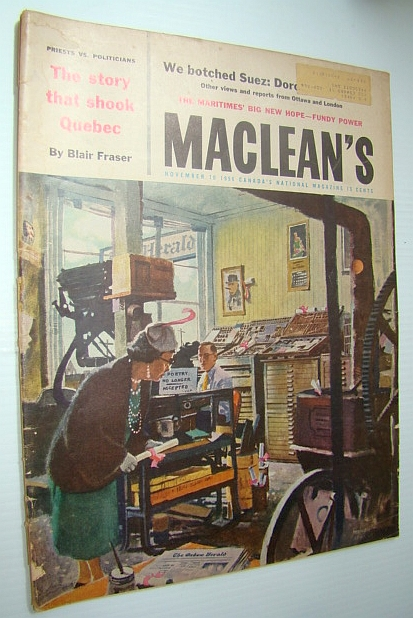 Image for Maclean's - Canada's National Magazine, November 10, 1956 - Lionel Avard Forsyth is Canada's Biggest Employer