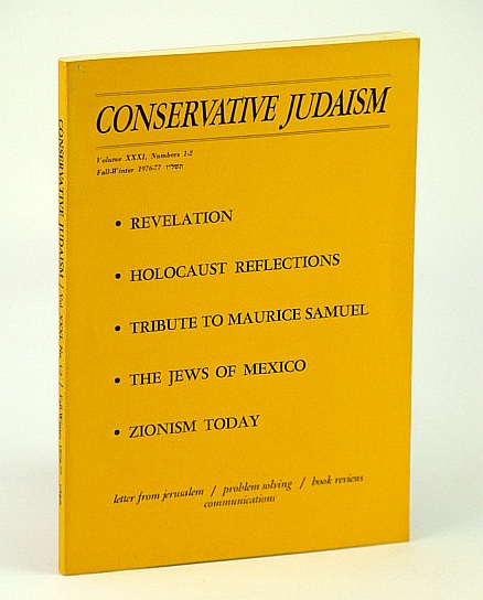 Image for Conservative Judaism, Fall-Winter 1976-77 (1976-1977) - Tribute to Maurice Samuel